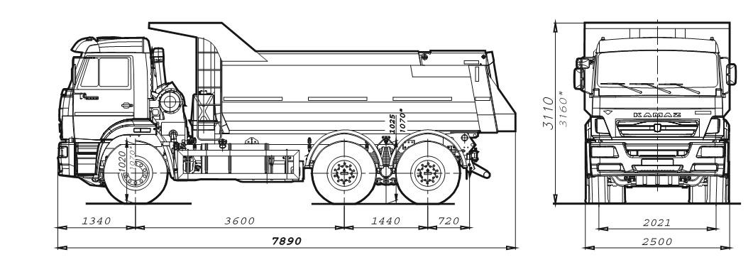 КАМАЗ - 10 тонн